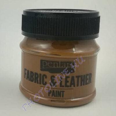Pentart textil és bőrfesték 50 ml sötétbarna