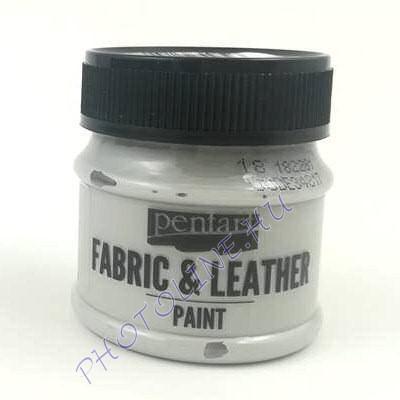 Pentart textil és bőrfesték 50 ml szürke