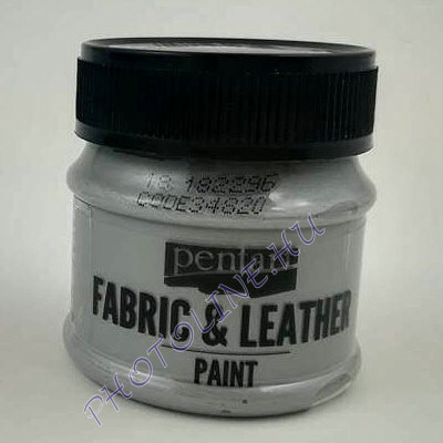 Pentart textil és bőrfesték 50 ml ezüst