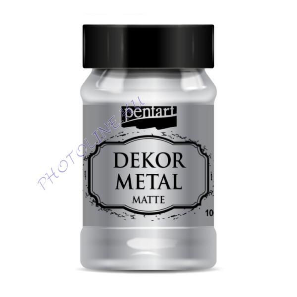 Pentart dekormetál matt 100 ml ezüst