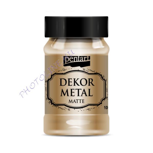Pentart dekormetál matt 100 ml bronz