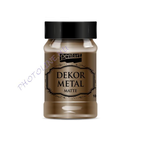 Pentart dekormetál matt 100 ml csokoládé