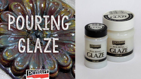 Pouring lakk pouring glaze Pentart, 230 ml