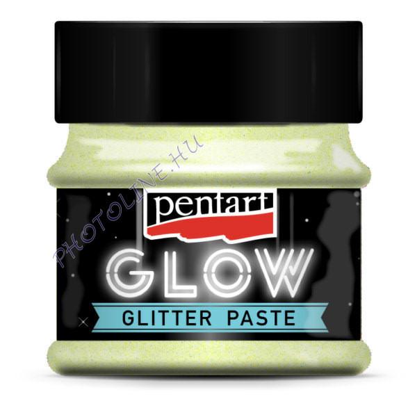 Sötétben zölden világító szivárvány glitterpaszta, 50 ml