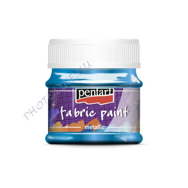 Metál textilfesték 50 ml, világoskék