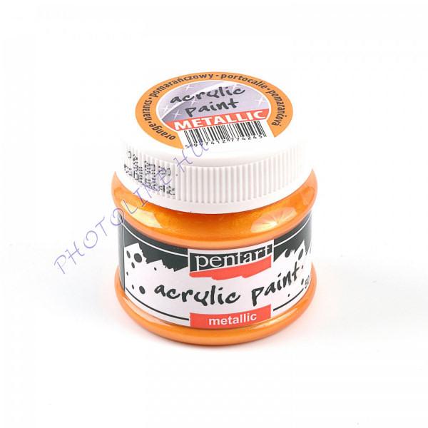 Akrilfesték metálfényű 50 ml, narancs