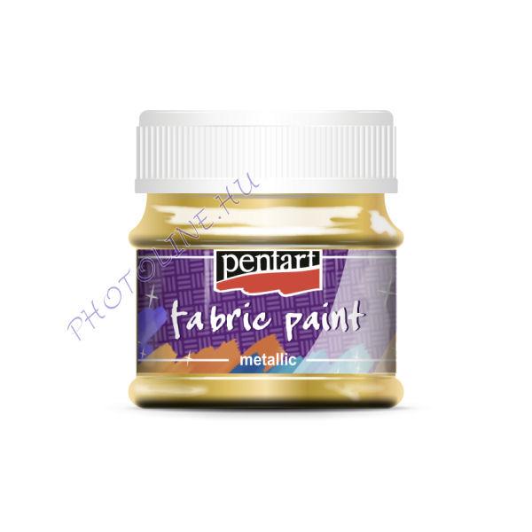 Metál textilfesték 50 ml, arany