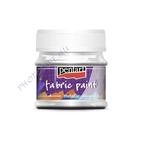 Metál textilfesték 50 ml, ezüst