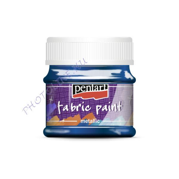 Metál textilfesték 50 ml, kék