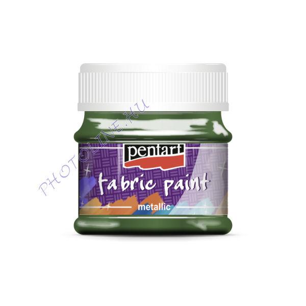 Metál textilfesték 50 ml, zöld