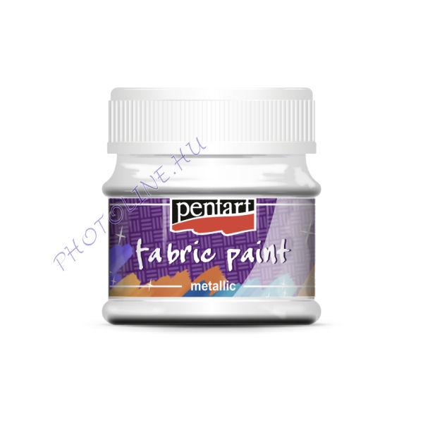 Metál textilfesték 50 ml, gyöngyház fehér