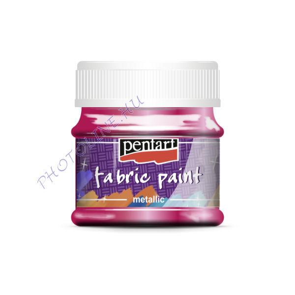 Metál textilfesték 50 ml, pink