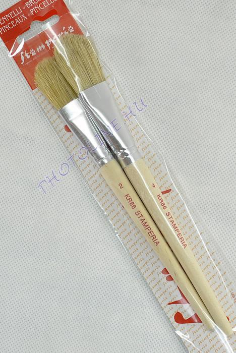Stamperia 20 mm + 25 mm lapos erős sörteecset készlet