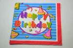 Decoupage Szalvéta Happy Birthday