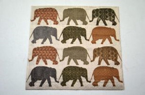Decoupage Szalvéta Elefántok