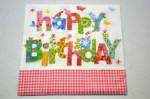 Decoupage Szalvéta Happy Birthday