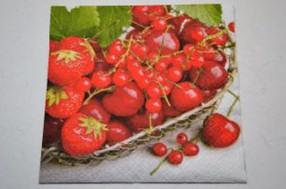 Decoupage Szalvéta Piros Gyümölcsök