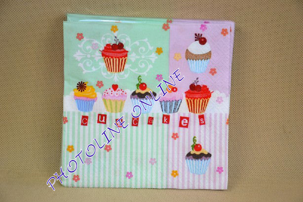 Decoupage Szalvéta Cupcakes