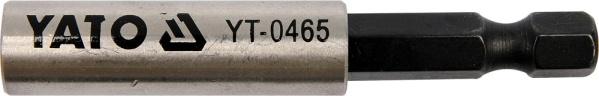 Bittartó szár géphez, mágneses, 60mm, CrV. 1/4